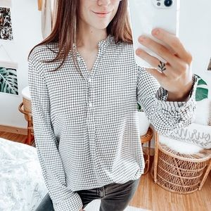 Madewell Wellspring Tunic Popover Shirt Windowpane